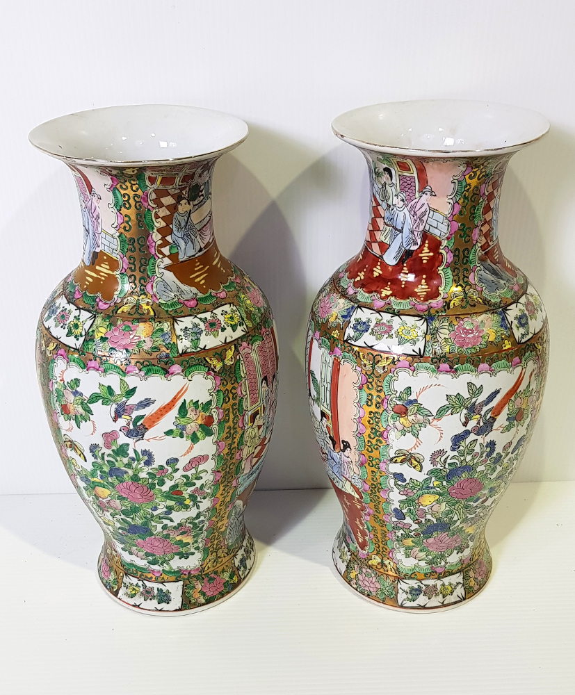 Good Quality 19th Century Pair of Oriental Vases