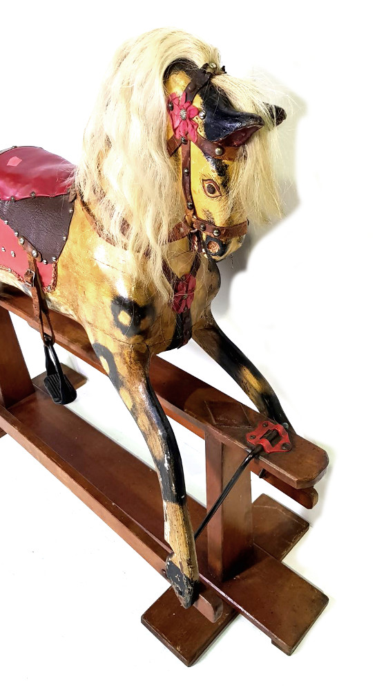 Rare Late 19th Century Painted Timber Rocking Horse