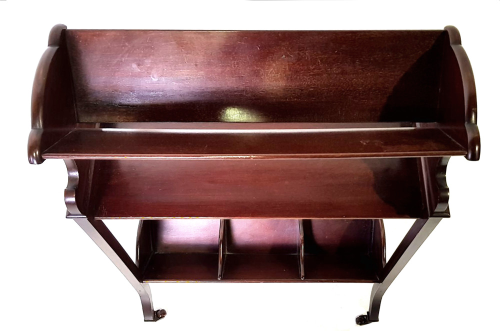 Good Quality Edwardian Inlaid Mahogany Book Trough