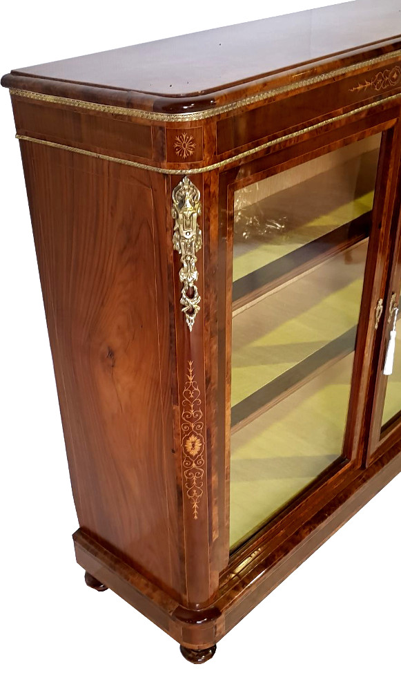 Top Quality 19th Century Burr Walnut Side Cabinet