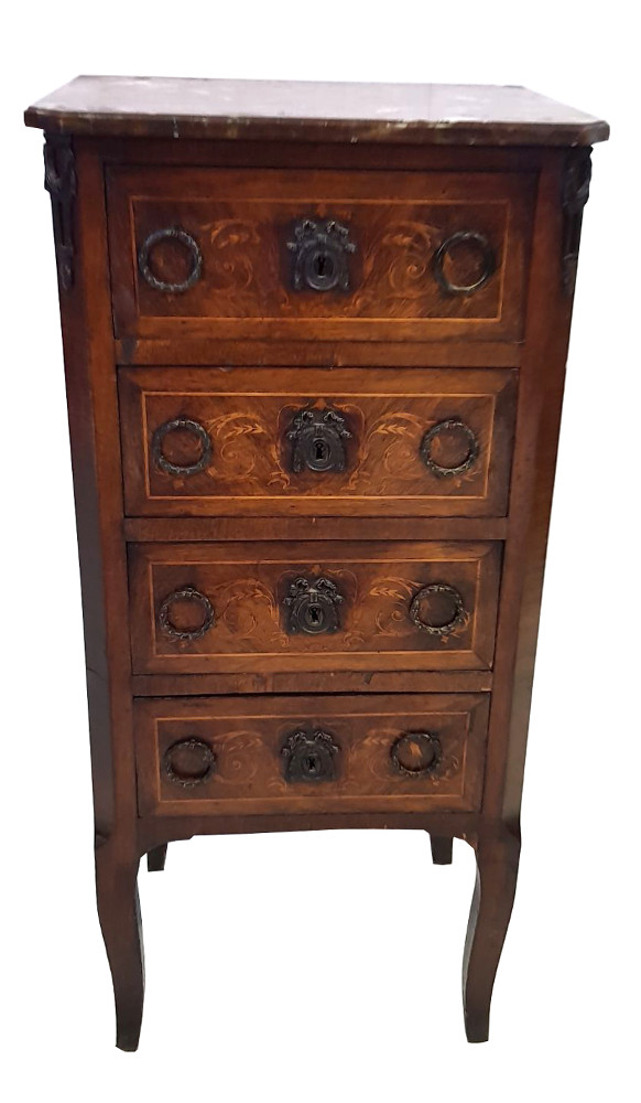 Edwardian Inlaid Rosewood Small Chest