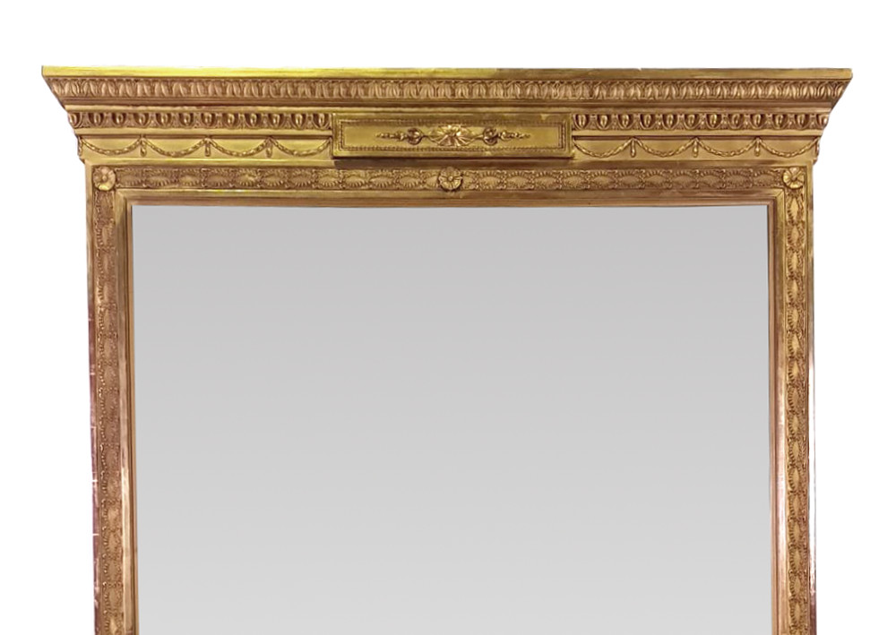 Good Quality 19th Century Gilt Tall Upright Mirror in the Adam's Design