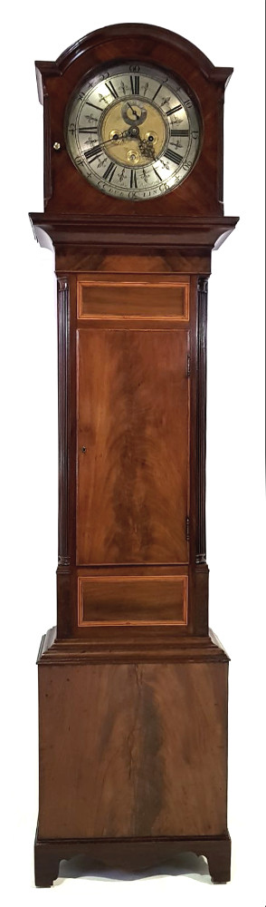 Good Quality Georgian Mahogany Irish Grandfather Clock