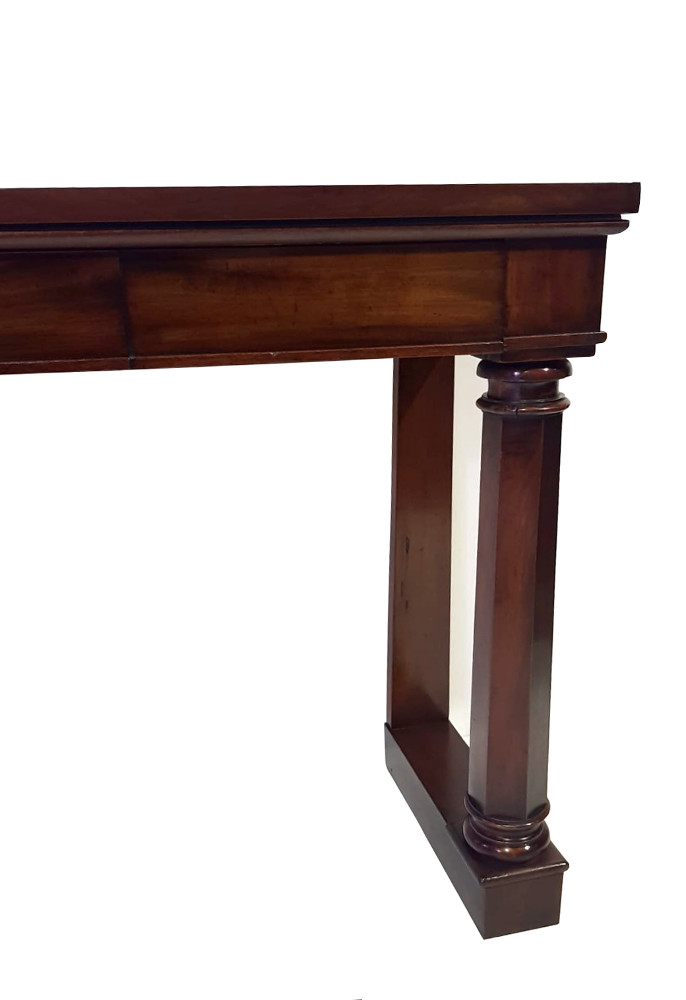Lovely Quality Simple Early 19th Century Mahogany Two Drawer Console Table