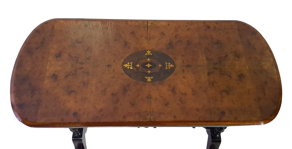 Good Quality Fully Restored Inlaid Walnut Occasional Table
