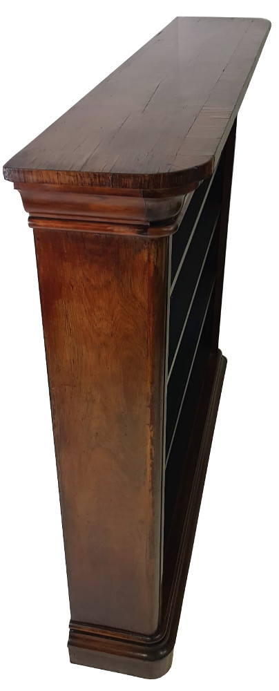 Unusual Large Size 19th Century Rosewood Open Bookcase