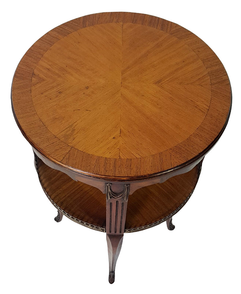 Good Quality Satinwood and Mahogany Circular Occasional Table