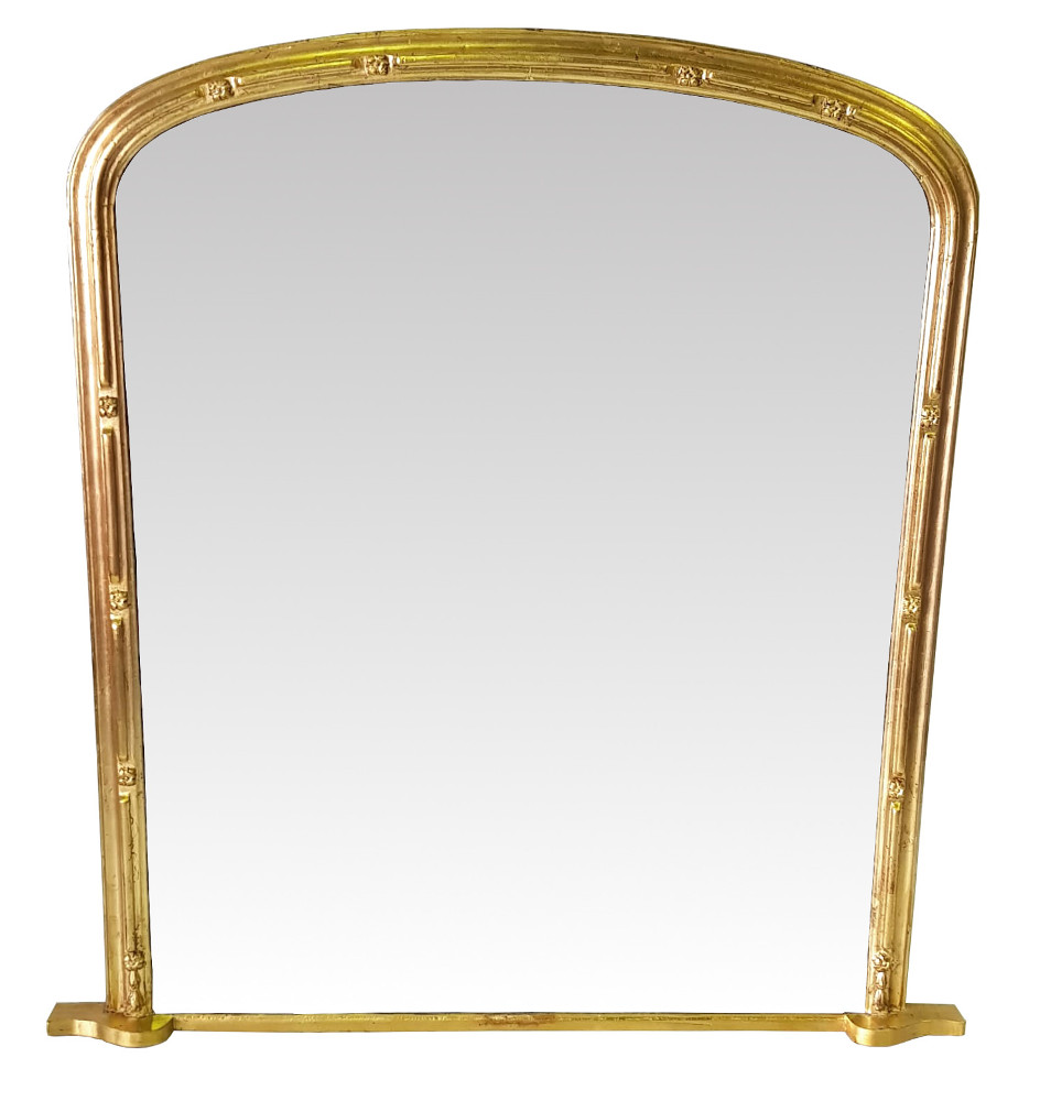 Quality 19th Century Gilt Overmantle Mirror