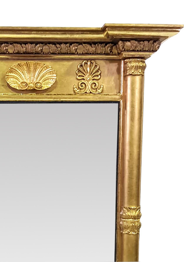 Early 19th Century Regency Gilt Hall / Pier Mirror