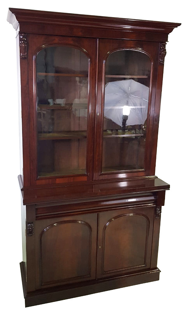 19th Century Mahogany 2-door Bookcase