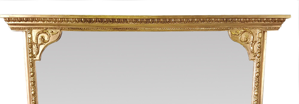 19th Century Gilt Overmantle Mirror