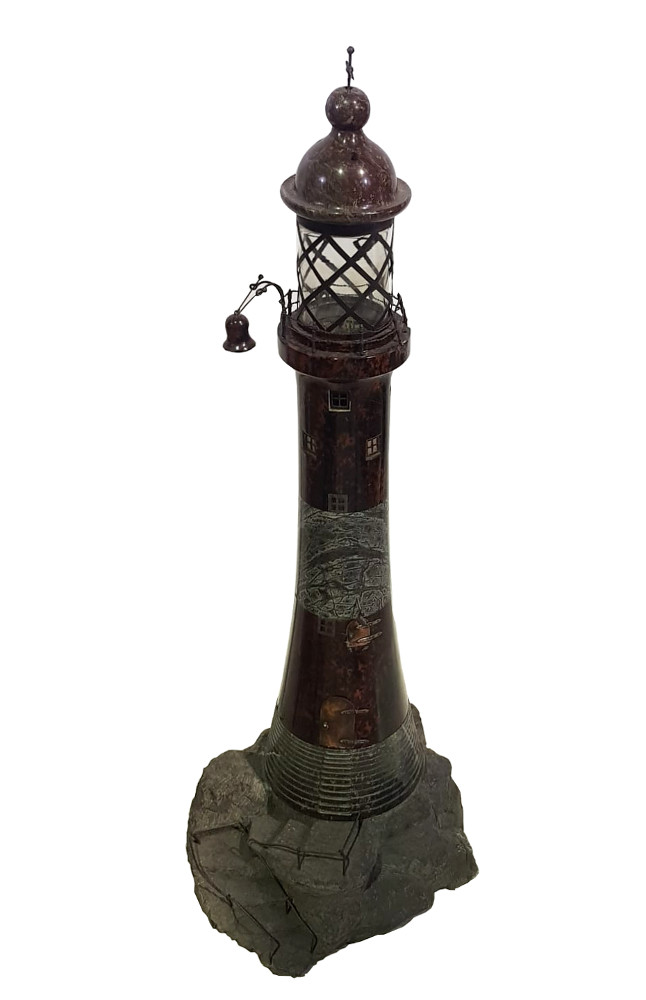 Rare 19th Century Model of Wolf Rock Light House