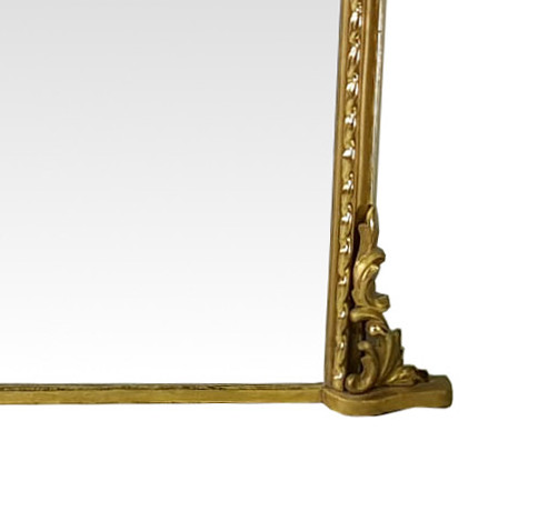 19th Century Rare Large Overmantle Mirror