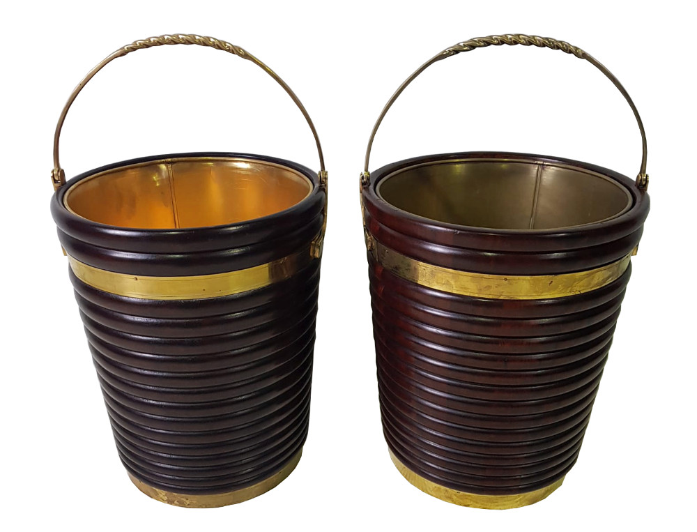 Pair of Hand Made Peat Buckets