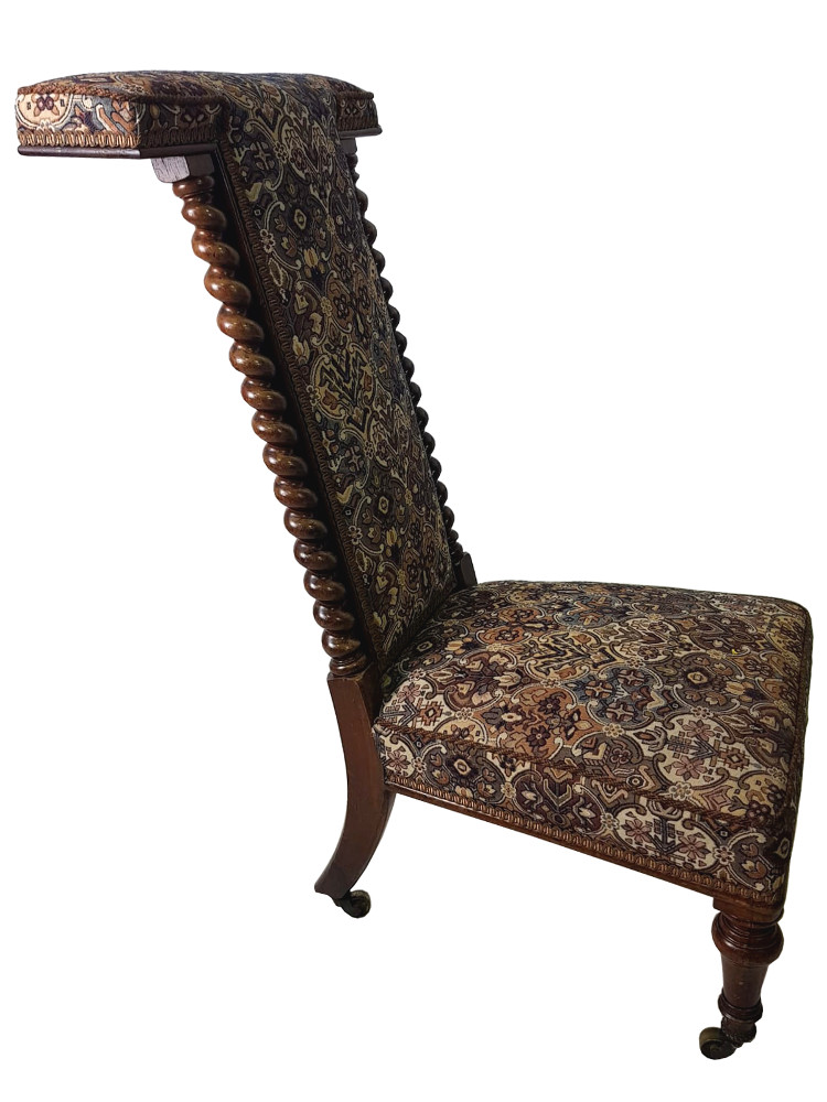 19th Century Prie Dieu Prayer Chair