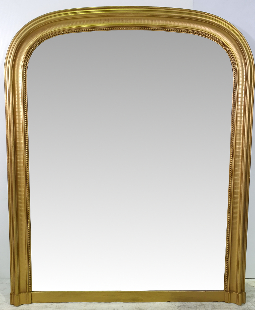 Lovely Simple 19th Century Gilt Overmantle Mirror