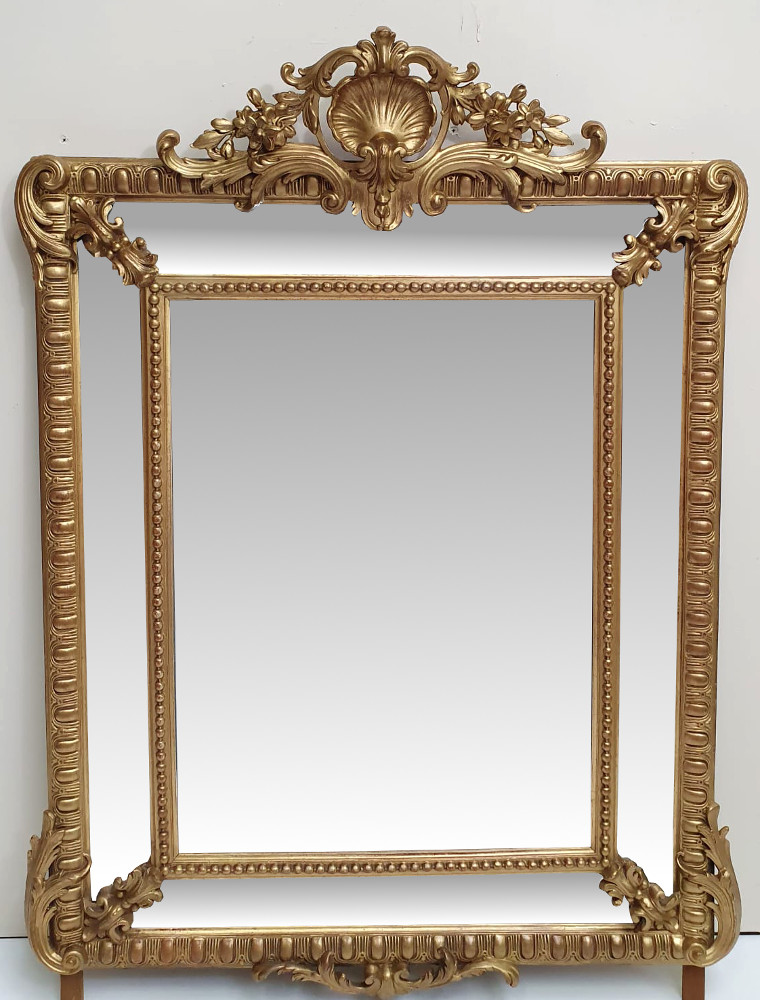 19th Century Gilt Overmantle or Hall Mirror
