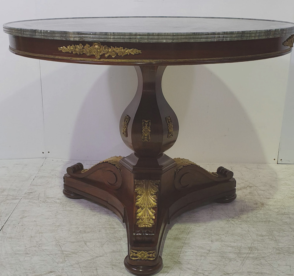 19th Century Rosewood Marble Top Centre Table