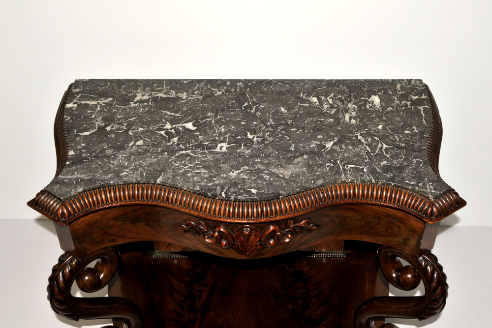 Top Quality Victorian Mahogany Marble Topped Console Table