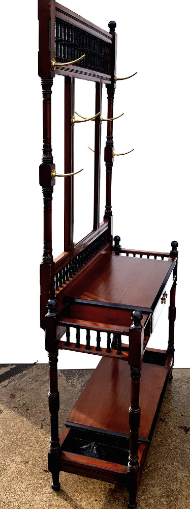 Irish Top Quality Victorian Hallstand Stamped