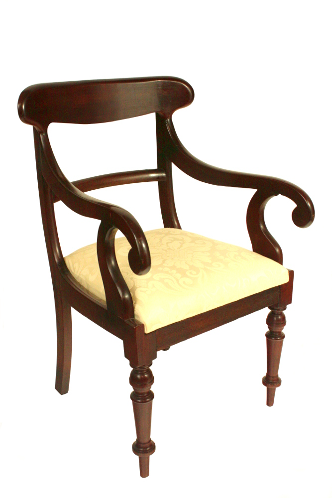 19th Century Victorian Pair Of Carver Chairs
