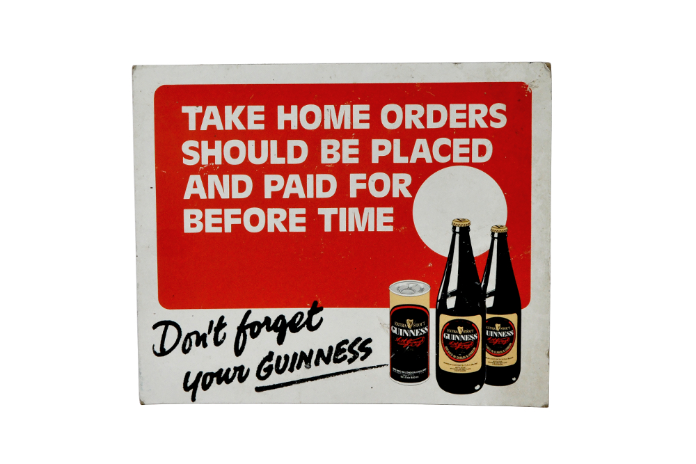Old Guinness Advertising Sign