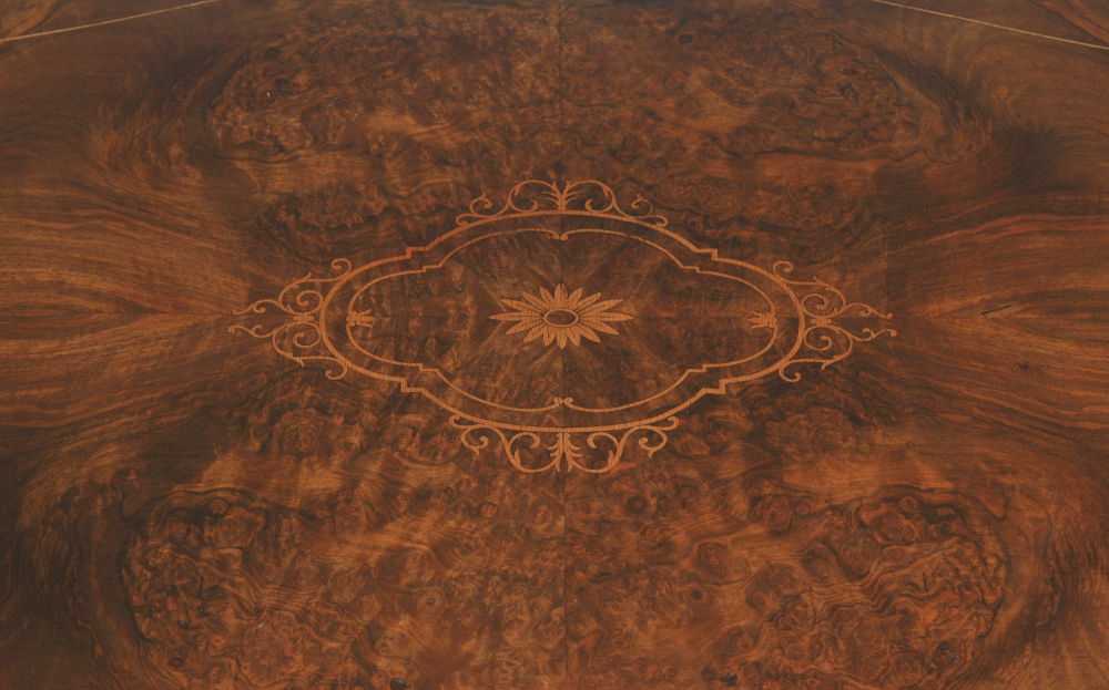 Good Quality 19th Century Inlaid Walnut Table/Desk with Ormolu Mounts