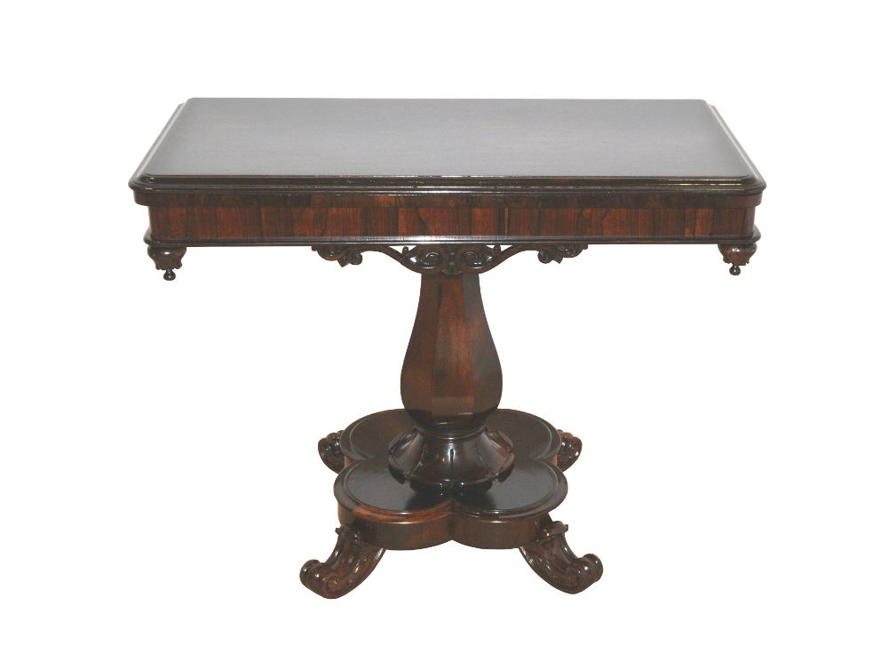 Top Quality 19th Century Victorian Turn Over Leaf Card Table