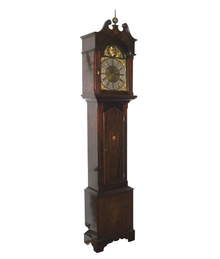 Top Quality Edwardian Mahogany Inlaid Grandfather Clock