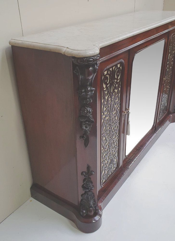19th Century Rosewood Marble Top Cabinet