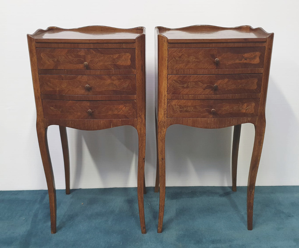 Pair of Edwardian Bedside Cabinets