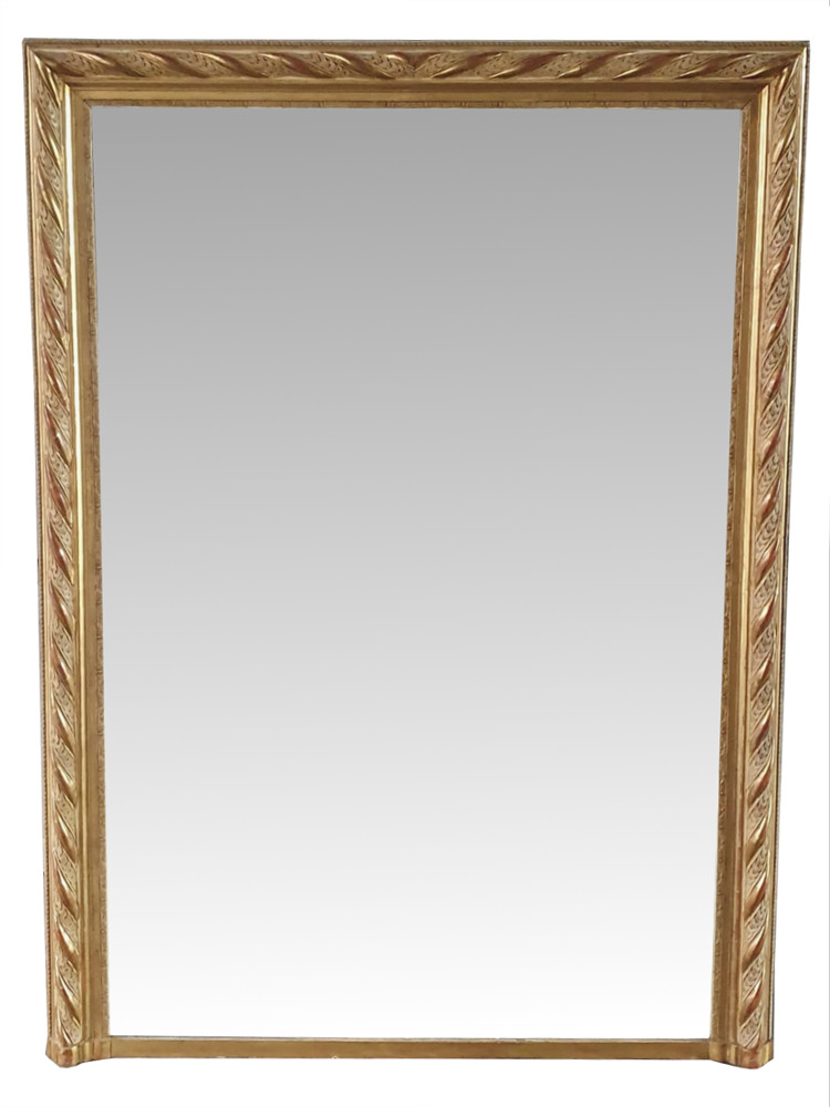 Pair of 19th Century Gilt Overmantle Mirrors