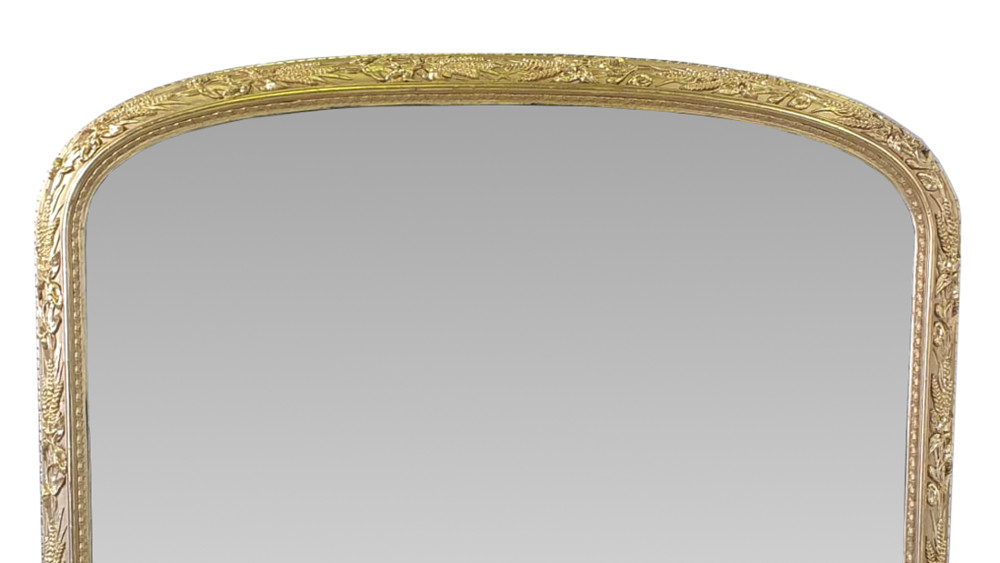 19th Century Gilt Framed Overmantle Mirror