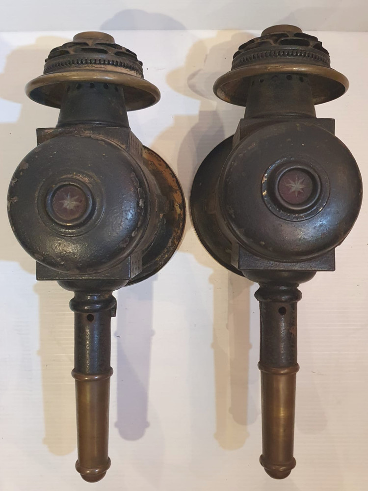 Rare Pair of 19th Century Carriage Lamps